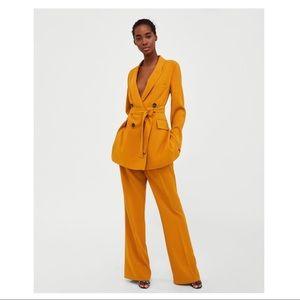 Zara Long Yellow Blazer